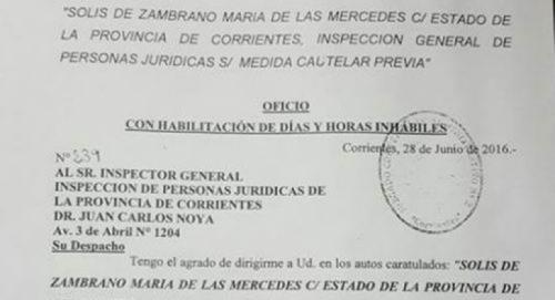 La Justicia repuso a Zambrano en Jubilados - Corrientes OnLine